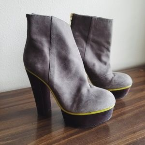 BETSEY JOHNSON Maybill Suede Leather Boots